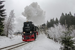 Drei Annen Honne frosty departure (Nigel Valentine) Tags: harz steam snow narrow gauge frost locomotive germany