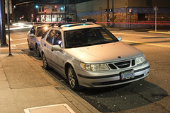 1999 Saab 9-5 (Curtis Gregory Perry) Tags: portland oregon saab 95 station wagon estate 1999 hawthorne pdx night longexposure car automobile auto nikon d810