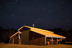 Lonely Barn (MikeyMcInnis) Tags: walker county alabama jasper duncan bridge night photography stars astrology southern alone peace sky old america barn house canon