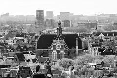 Noorderkerk - Amsterdam, The Netherlands (Dutchflavour) Tags: amsterdam noorderkerk mokum monochrome blackandwhite bw cityscape citylandscape citycentre city view viewpoint highanglepoint jordaan kerk church protestant 17thcentury opentorendag 2017 hendrickdekeyser