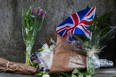 Floral tributes placed around Parliament. (sinister pictures) Tags: floraltributes rememberance westminster terrorattack victims terrorism london uk flowers england unitedkingdon gbr