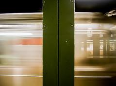 New York; Subway In Motion (drasphotography) Tags: newyork nyc manhatten ny usa underground subway ubahn moving drasphotography abstract abstrakt pylon