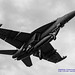 B&W of Growler on Final to OLF... From the Underbelly