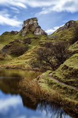 Fairy Glen, Isle of Skye, Scotland. (Gary Alexander landscapes) Tags: fairy glen uig scotland uk canon 6d 17 40 f4 l lens landscape land landscapes island mystical location travel lee big stopper 30 seconds exposure light colour color colourful deep tones vibrant 2017 hills hillside grass water reflect reflection still iso 50 sky skye cloud clouds nature art europe 50v5f