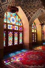 Nasir-ol-Molk Mosque, Shiraz (Chris Brady 737) Tags: nasirolmolk nasir almulk pink mosque shiraz iran persia stainedglass window