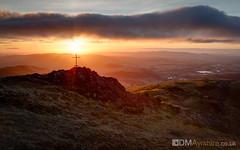 Ben Ledi - Lawrie Memorial [5D4_1393] (GammyKnee) Tags: ben ledi mountain callander landscape scotland scottish 5div hillwalk memorial sgtharrylawrie sunrise dramatic