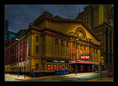 Manchester Opera House (Kevin, Mr Manchester) Tags: architecture building canon1100d canon1855mm castlefileds citycentre england hdr lancashire manchester northwest outdoor photoart photoborder postprocessing spinningfields streetlamps streetlights