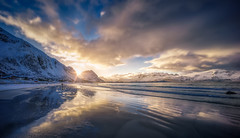 Taking It All In (explored) (hpd-fotografy) Tags: arctic lofoten norway ramberg scandinavia beach bluehour cold dramatic goldenhour ice light mountain north reflection sand seascape snow sunset ultrawide water waves weather winter