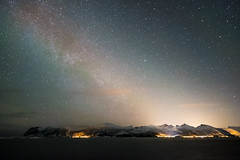 Waiting for the light, Norway (Sunny Herzinger) Tags: night fujixpro2 milkyway winter norge stars mountains february senja xf14mmf28 troms norway no