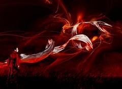 Le dernier souffle Dragon Rouge... (Sabine-Barras) Tags: red rouge personnes people conceptual