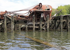 Crane In Need Of A Lift (95wombat) Tags: abandoned decay rotted tattered rusty crusty marinegraveyard arthurkill statenisland newyork