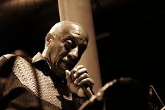 Mulatu Astatke (Jungle C) Tags: music musician stage bw jazz live concert berlin ethiopian light shadow face african eye