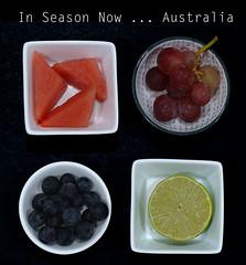 Seasonal fruit (judith511) Tags: odc circles 7daysofshooting week39 seasonal geometrysunday fruit watermelon blueberries grapes lime