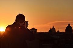 I love Rome (Japo García) Tags: fotografía roma viaje turismo cúpulas tramonto atardecer vaticano iglesias cielo skyline ciudad contraluz siluetas naranja sol puestadesol