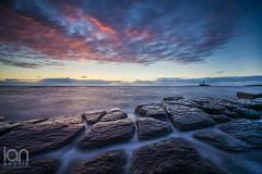 Squares (ianbrodie1) Tags: leefilters squares rocks water sea seascape cloud cloudsstormssunsetssunrises sunrise stmarys lighthouse old hartley nikon d750 coast coastline red