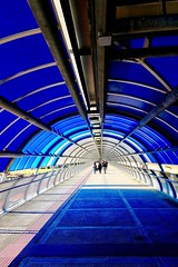 Blue tube, Rome, Italy. Architecture Blue Indoors  Built Structure Contemporary Metapolitica (Massimo Virgilio - Metapolitica) Tags: architecture blue indoors builtstructure contemporary metapolitica