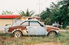 Left 4 Dead (benriley80) Tags: mitsubishi lancer rust abandoned jdm rusty scrapyard wrecker thai thailand jnc nostalgic car classic japanese kyusha film nikonf3 fujifilm