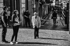 Streetscene in Porto (zilverbat.) Tags: portugal porto people portret streetphotography straatfotografie streetcandid portrait peopleinthecity urbanlife straatfotograaf urban streetlife streetshot citylife scenery city bild europe blackwhitephotos blackandwhite blackwhite zwartwitfotografie zilverbat zwartwit peopleinthestreet europa humans straatportret oldman timelife town urbanvibes centrum mono monochrome noir negro gentleman fashion patron world straatfoto streets guard bank