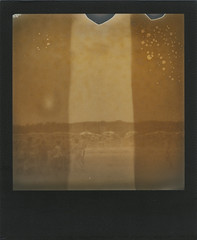 Tutti al mare (ale2000) Tags: polaroid impossible analog analogue px600 silvershade blackframe poorpod ruination exhibition instant instantphotography mostra failaroids firenze florence failures cucocucinacontemporanea chemicals chimica mare tuttialmare seaside summer sepia bw