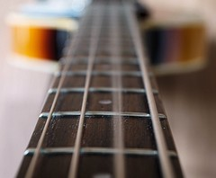 A string (Rob Hall -) Tags: intentional blur macro mondays bass guitar musical instrument strings