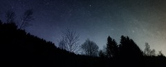 Panorama étoilé (jimmy-lefrancois) Tags: belledonne montagne mountains grenoble landscape night nightscape stars stargazing panorama paysage nuit étoiles ciel sky darksky
