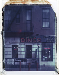Diner, NYC March 2017 No1 (Peter William Knight) Tags: polaroid roidweek newyork nyc diner springpolaroidweek2017 polaroidweek graflex graflexsupergraphic film 4x5 669