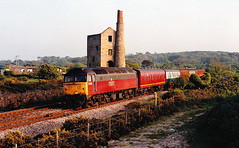 47569 at scorrier (47604) Tags: class47 47569 royal mail post scorrier cornwall heather railway red