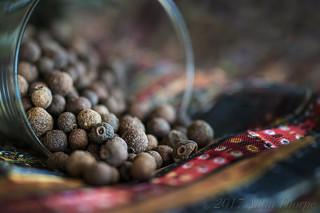 Allspice seeds macro