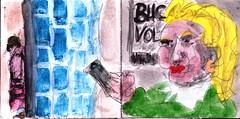 sie hatte lange gewartet und dabei war es kühl geworden (raumoberbayern) Tags: bayern bavaria germany sketchbook skizzenbuch tram munich münchen bus strasenbahn pencil bleistift ballpoint paper papier robbbilder stadt city landschaft landscape spring frühling summer sommer lake trip ubahn subway
