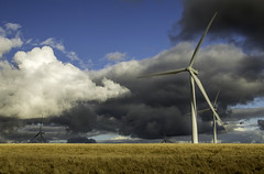 Love Or Hate? (ciaranryanphotography) Tags: dramatic sky cloudy moody field stormy wind turbine landscape wales turbines cymru south tourism
