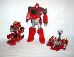 ironhide transformers masterpiece mp 27 takara tomy 2016 38 with ironhide g1 series 1 1984 (tjparkside) Tags: transformers transformer mp 27 mp27 masterpiece ironhide autobot autobots generation 1 g1 takara tomy 2016 collector card alternate face nissan cherry van vanette vehicle laser pistol pistols static gun liquid shooter utility sensor jet thruster missile launcher collectors series 1984