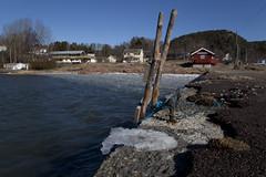 My hood, home, house (Beathe) Tags: sando home spring icemelting brygga pier sandebukta oslofjord ice sun img1735 yellowhouse