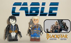 Cable (John Blackstar) Tags: cable domino lego marvel comics modern