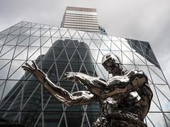 Terminator (Feldore) Tags: terminator hong kong sculpture hongkong metal skyscrapers central district skyline modern art feldore mchugh em1 olympus 1240mm reflections towers