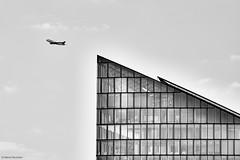 Frankfurt Lufthansa (rainerneumann831) Tags: frankfurt gebäude flugzeug lufthansa linien up blackwhite architektur