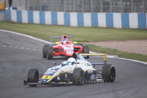 Harry Webb in British F4 Race Two during the BTCC Weekend at Donington Park 2017
