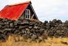 Kofi með rauðu þaki (eirikurtor) Tags: kofi hut rautt red rock grjót ísland iceland hraunin straumsvík