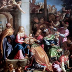 IMG_4001N Aurelio Lomi. 1556-1622. Pise.  The adoration of the magi.  L'Adoration des Mages. 1597.   Turin. Sabauda. thumbnail
