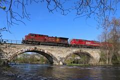Watertown, Wisconsin (UW1983) Tags: trains railroads canadianpacific cp sooline watertownsubdivision watertown wisconsin rockriver bridges sd60m