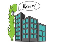 Rawr (Voxxy Redd) Tags: adobe adobeillustrator illustrator graphicdesign illustration cute jackalope dino perspective