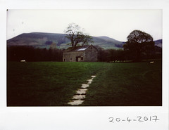 Thursday 20th April (ronet) Tags: roidweek2017 fujiinstax200wide thursdaywalk barn edale field film instant instantfilm instax instax200wide kinderscout pasture peakdistrict scanned sheep utata utata:project=tw574