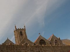 Church of St. Ia (Fotorob) Tags: engeland voorwerpenoppleinened muur religieuzegebouwen kerkenkerkonderdeel architecture erfscheiding cornwall anoniem kerk england architectura architectuur stives