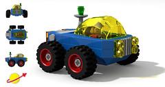 CS Car (David Roberts 01341) Tags: buggy car allterrain 4x4 rover lego ldd digital povray classicspace scifi minfigure funspacemen toy