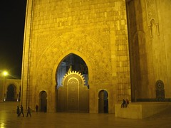 Hassan ii Mosque at Night (Rckr88) Tags: hassan ii mosque hassaniimosque night hassaniimosqueatnight masjid islamic architecture buildings building casablanca morocco northafrica africa travel travelling doorway door
