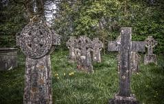 St.Teilo's Church Merthyr Mawr gravestones celtic (technodean2000) Tags: church celtic gravestones mawr merthyr stteilos