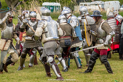[2014-04-19@15.15.46a] (Untempered Photography) Tags: history costume fight helmet battle medieval weapon sword knight shield combat armour reenactment skirmish combatant chainmail canonef50mmf14 perioddress polearm platearmour gambeson poleweapon mailarmour untemperedeye canoneos5dmkiii untemperedeyephotography glastonburymedievalfayre2014