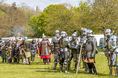 [2014-04-19@15.23.36a] (Untempered Photography) Tags: history costume helmet battle medieval weapon sword knight shield tor armour reenactment combatant chainmail glastonburytor canonef50mmf14 perioddress polearm buckler platearmour gambeson poleweapon mailarmour untemperedeye canoneos5dmkiii untemperedeyephotography glastonburymedievalfayre2014