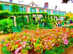 Approaching Claude Monet's home at Giverny (BBradley1024) Tags: travel flowers inspiration paris france flower color tourism home wow photography bed artist estate famous vivid monet painter impressionism claude chateau factor impressionist giverny