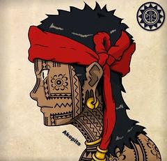 Bangut - Visayan Facial tattoo (Akopito) Tags: tattoo filipino facial visayas pintado pintados bisaya visayan bisdak langi austronesian facialtattoo binisaya austronesia akopito bangut