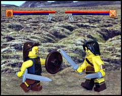 Lego:  Deadliest Warriors (waihey) Tags: game computer toys lego highlander warrior warriors swords shields gladiator deadliest